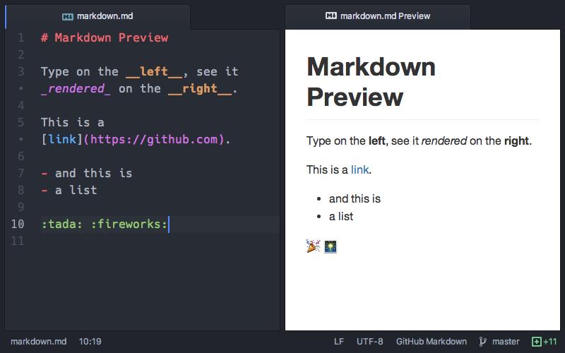 Atom Markdown Preview Demo