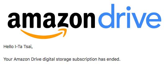 再見了,Amazon Drive